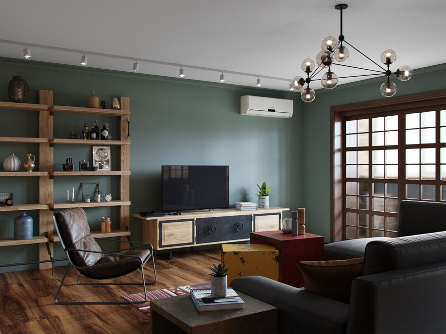Проект квартиры-студии 48 м в стиле лофт.