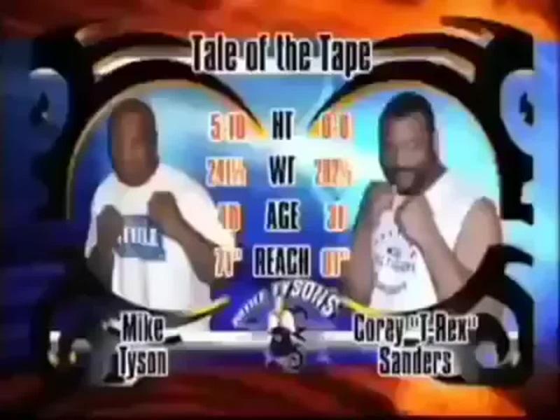 Последний раз,когда Майк Тайсон сражался на выставочном бою против Кори Сандерса в неполную силу🥊