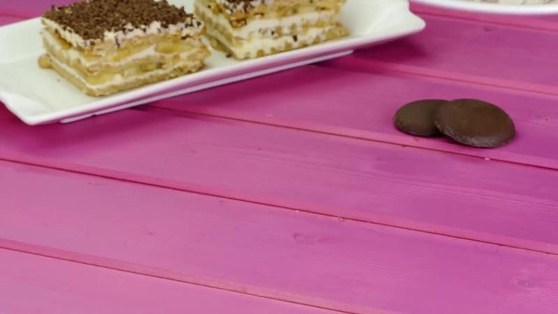 Печенье сметана и бананы это все что вам понадобится для торта