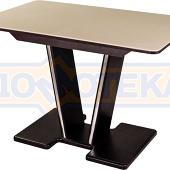 Стол с камнем - Румба ПР-1 КМ 06 ВН 03-1 ВН, венге, камень песочного цвета