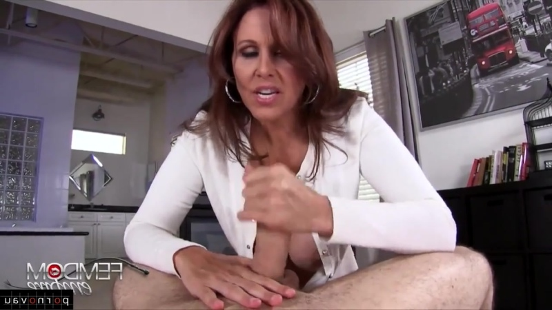 Julia Ann Mature Masturbation POV First Person, Old with young, , Jerking off a guy, Cumshot on chest,