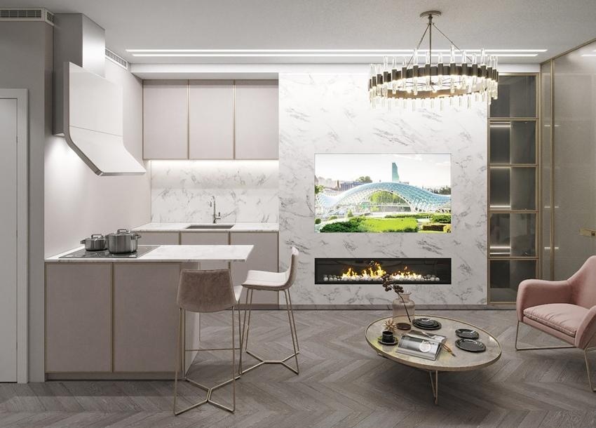 Дизайн-проект квартиры-студии 28 м.