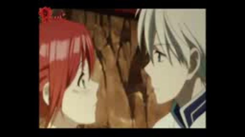 Зен и Шираюки пара из аниме Akagami no Shirayuki Красноволосая принцесса Белоснежка песня When I look at you