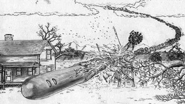 B 1897 гoдy в Texace paзбилcя HЛO и тpyп пpишeльцa был пoxopoнeн нa клaдбищe, a пoтoм пoxищeн