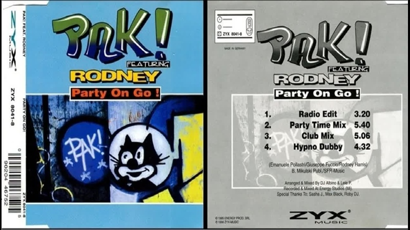 Pak! feat. Rodney - Party On Go! (Club Mix) 1995