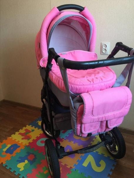 Продам коляску Adamex розового цвета 3 в 1 ((((В наличии:...