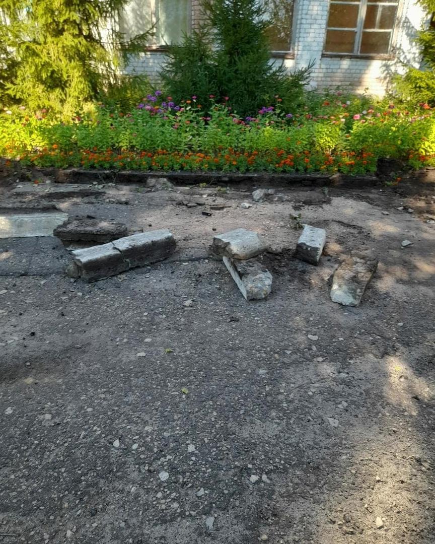 Начались работы по благоустройству территории школы №8 города Петровска