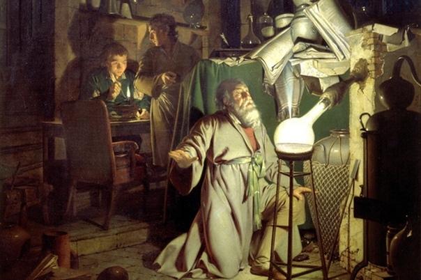Жидкое золото. Алхимик Хенниг Бранд был одержим идеей получения алхимического золота. На деньги своей жены он построил собственную лабораторию. Бранд сфокусировался на опытах с человеческой