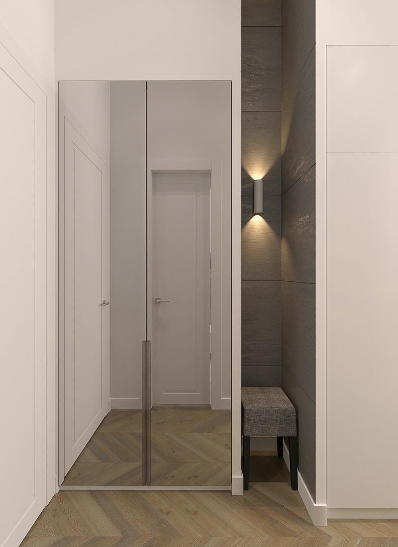 Три маленькие студии из 3-комнатной квартиры: проект студии №2 19 кв.