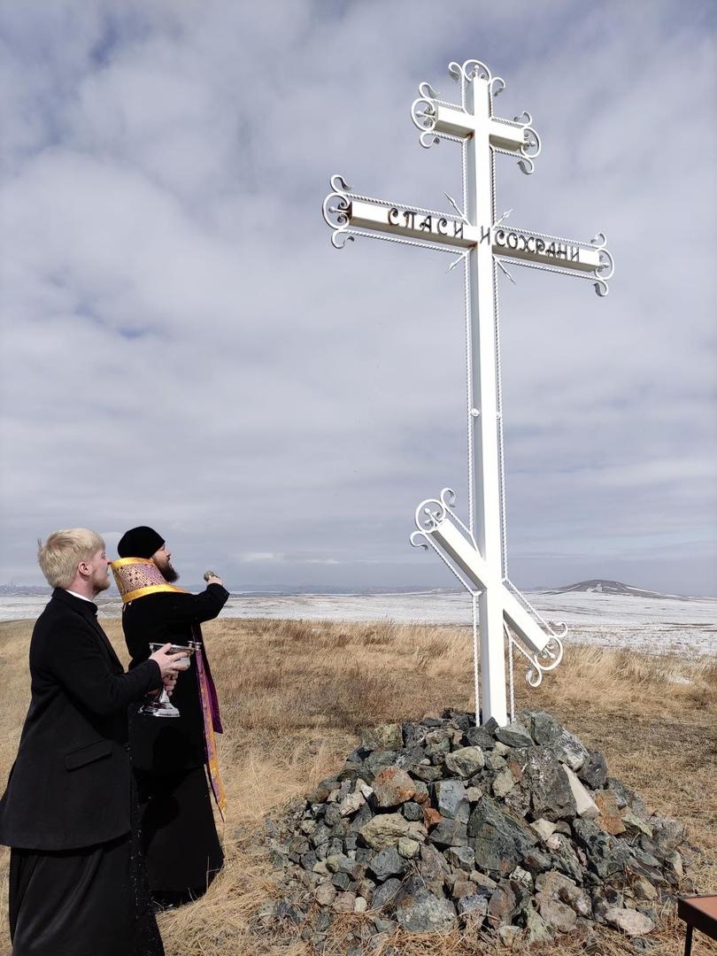 Казаки востановили поклонный крест., изображение №4