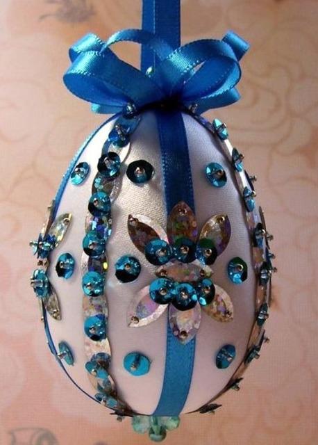 Как украсить пасхальные яйца тесемками и ленточками - МК и идеи