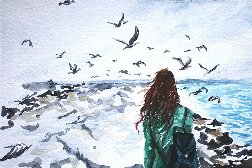 - Скажи, а чайки тоже плачут,