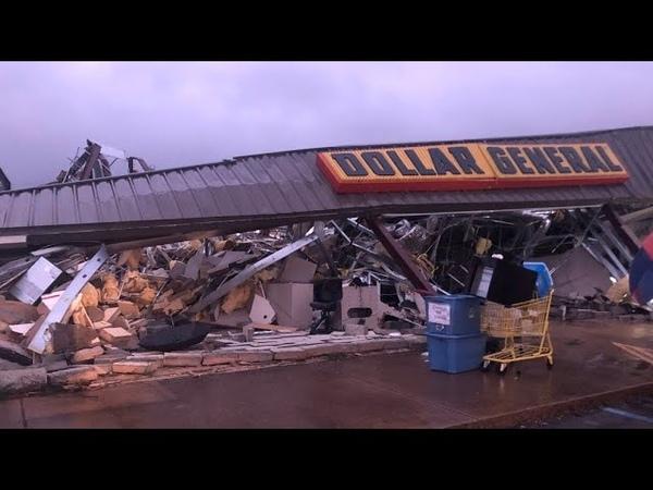 Tornado in Tishomingo Mississippi USA 24th March 2020