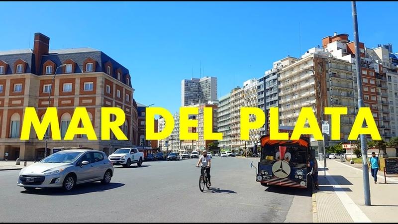 MAR DEL PLATA RECORRIDO POR SUS CALLES HASTA LA PLAYA CLUB WAIKIKI BUENOS AIRES ARGENTINA 2021