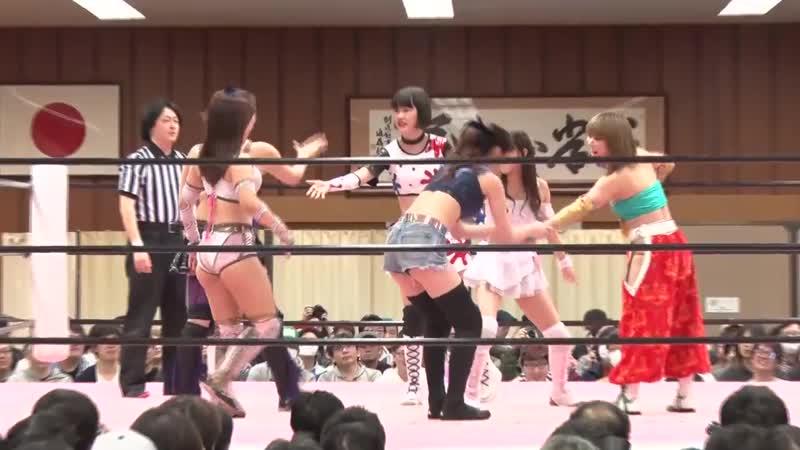 Mina Shirakawa Yuki Kamifuku Yuna Manase vs Mizuki Yuka Sakazaki YUMI