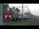 Электровоз ЭП2К-338 ТЧЭ-6 со скорым фирменным поездом Ульяновск №022Й Москва - Ульяновск.
