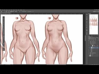 [Sakimichan] Body lighting variotion steps