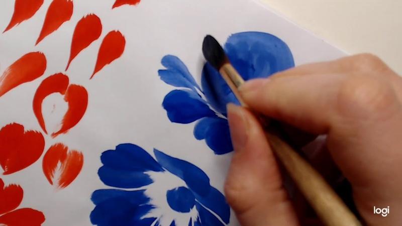 Мастер класс Основы Жостовской росписи для начинающих Мазки и цветы