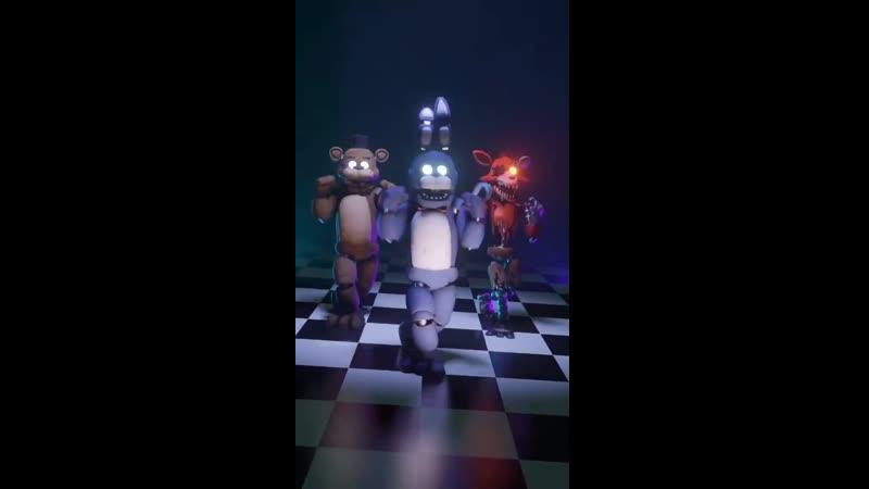 Классный Фредди классный Фокси и классный Бонни танцуют