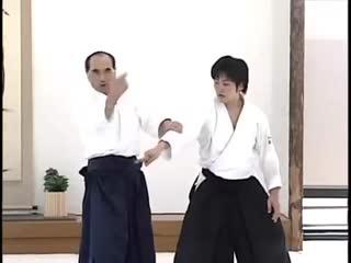 Sensei Hiroshi Tada 9° Dan Shihan Aikikai d'Italia teaching at the Aikikai Hombu