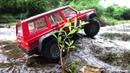 ♬ Vaterra Ascender Jeep Cherokee XJ Trail at the waterfall