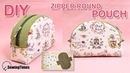 DIY ZIPPER ROUND POUCH BAG 반달 파우치 Makeup Pouch Sewing Tutorial Free Pattern sewingtimes