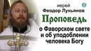 Проповедь о Фаворском свете и о уподоблении человека Богу (2020.08.19). Иерей Феодор Лукьянов