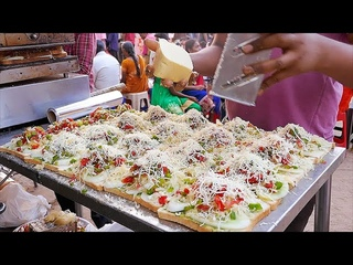 Indian Street Food - PIZZA, CHEESE SANDWICH, DOSA, MILK NOODLES India