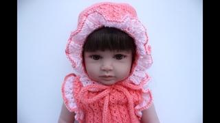 Kahve Çekirdeği Modelli Bebek Şapkası / Fırfırlı Bebek Şapkası
