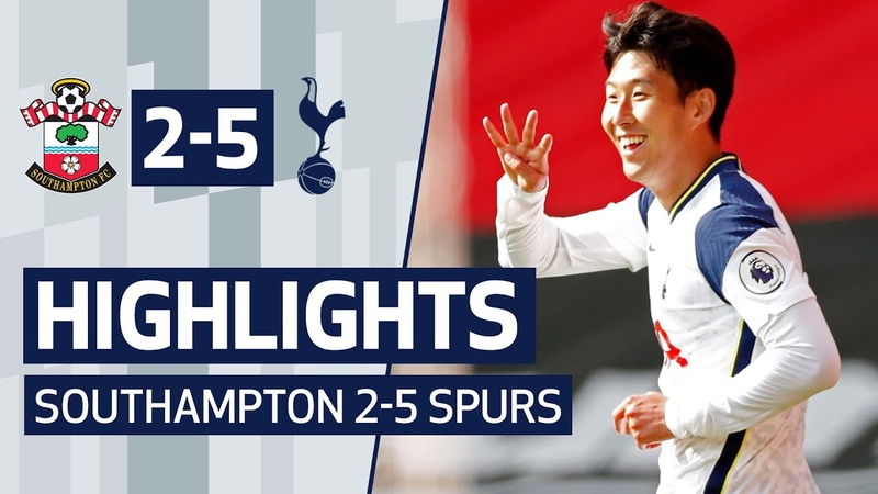 HIGHLIGHTS SOUTHAMPTON 2 5 SPURS Heung min Son scores FOUR at St Mary's