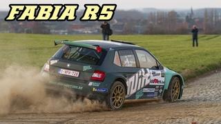 Skoda Fabia R5 | jumps, drifts, Turbo sounds & starts
