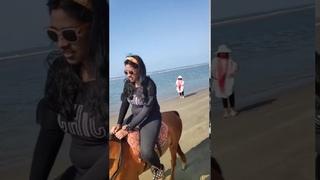 sexy fat girl riding pony