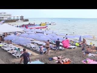 На 24 июля с начала месяца Крым принял первый миллион отдыхающих