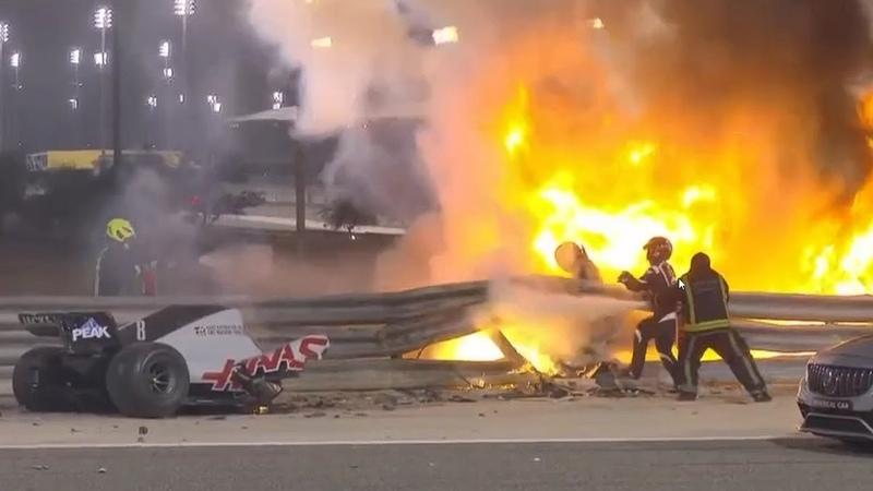 Ф1 БАХРЕЙН УЖАСНАЯ АВАРИЯ КАК ГОРЕЛ ГРОЖАН F1 BAHRAIN TERRIBLE CRASH HOW GROSJEAN BURNED