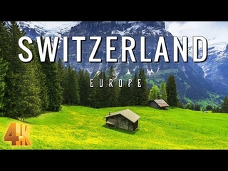 FLYING OVER SWITZERLAND (4K UHD) - Relaxing Music & Amazing Beautiful Nature Scenery For Stress