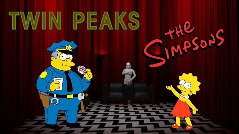 Твин Пикс в Симпсонах Гомер и Лиза The Simpsons Twin Peaks Homer and Lisa