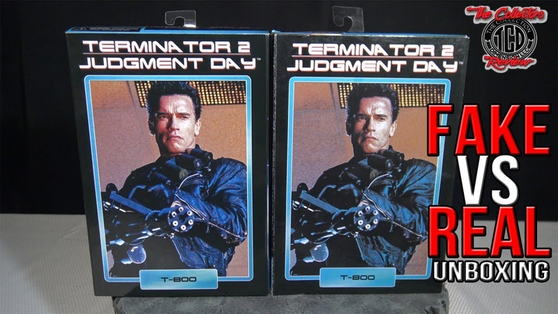 Unboxing Terminator T-800 Fake Vs Real Judgement Day 2 Neca Action Figure