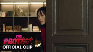 """The Protégé (2021 Movie) Official Clip """"Mansion Duel"""" - Michael Keaton, Maggie Q"""