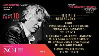 Boris Berezovsky, piano - Sonata in E flat major, op. 27, no. 1 by Beethoven
