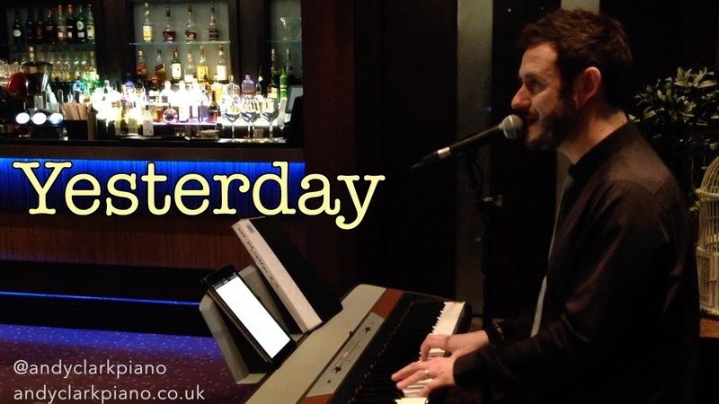 Yesterday live piano vocal cover