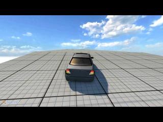 Beam NG: Спускаем с горки Mercedes C-Classe ///AMG и Priora Tuning кароч!