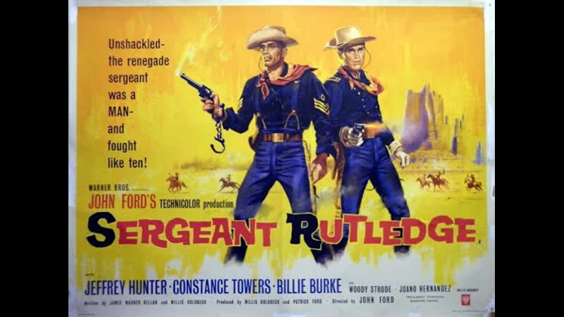 Sergeant Rutledge 1960 Jeffrey Hunter Woody Strode Constance Towers