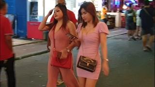 PATTAYA walking street at night scene