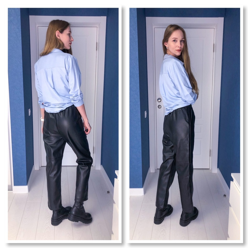 Брутальные брюки из кож.зама.