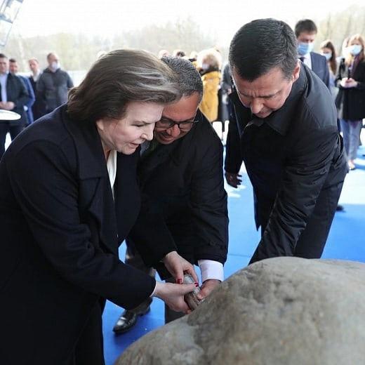 В Ярославле, на месте строительства волейбольного центра, заложена капсула времени