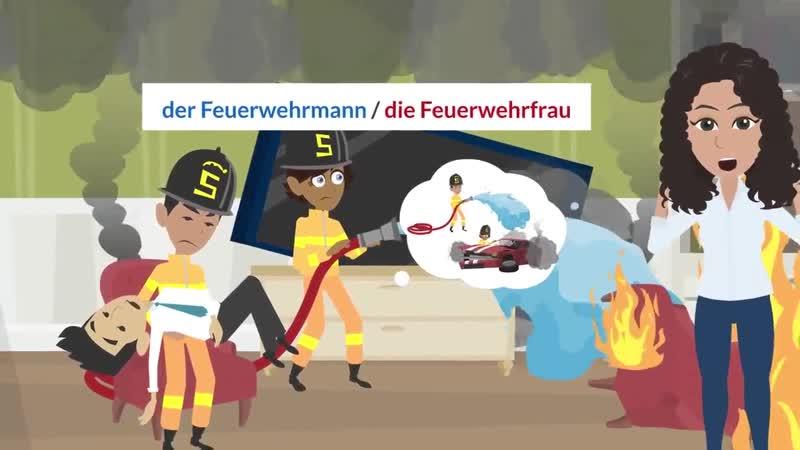 Deutsch lernen A1 _ Was ist dein Beruf Ich arbeite als Kellnerin. _ Wortschatz u
