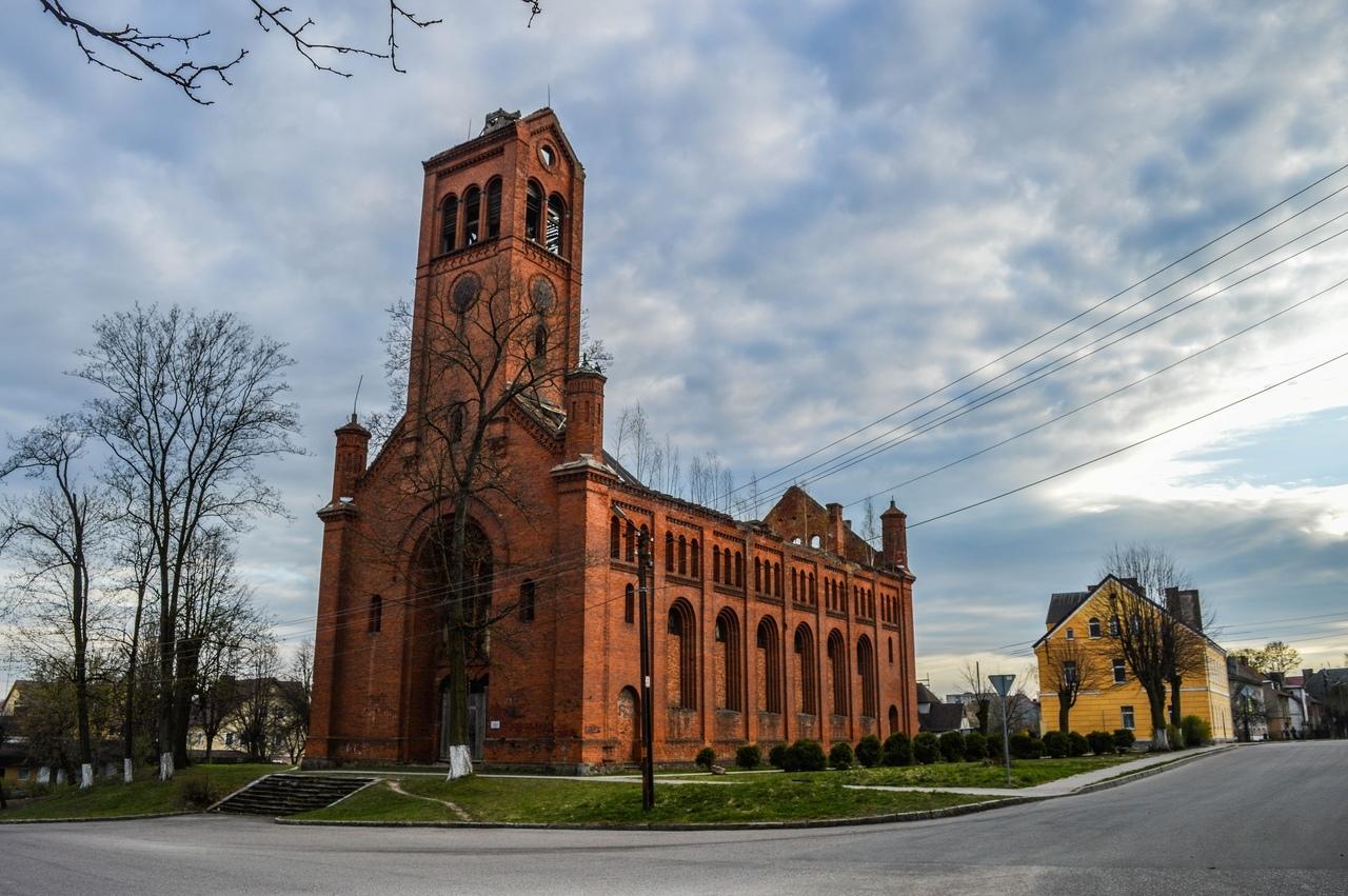 Лютеранская кирха в городе Озёрск
