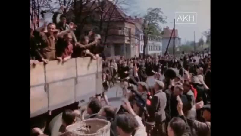 Немецкие военнопленные вышедшие из боев с советскими частями и сдавшиеся союзникам Хроника в цвете