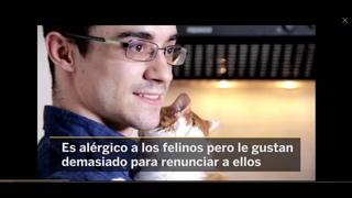 Javier Fernández y el gato de la victoria