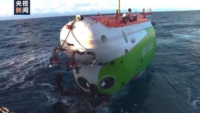 Китайский подводный аппарат успешно сел на дно Марианской впадины на глубине 10 тыс. 909 метров